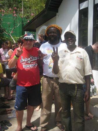 St. Ann's Bay, Jamaica: two of the guides whose tours overlapped