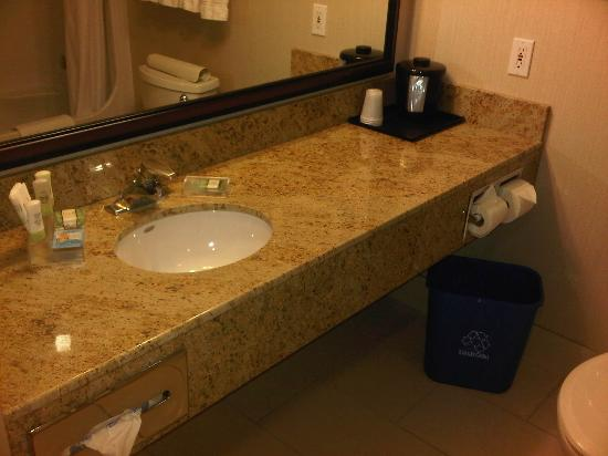 Country Inn & Suites By Carlson, Calgary Airport: Spacious bathroom