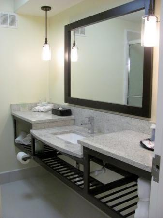 Holiday Inn Express & Suites: spacious bath and shower