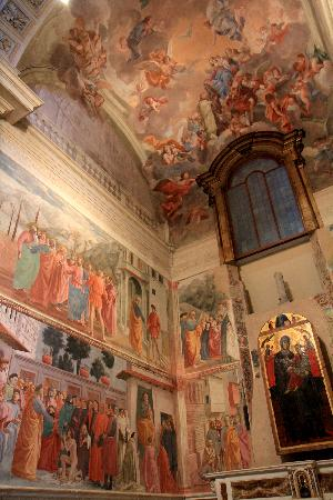 brancacci chapel in santa maria del The beautiful cappella brancacci is a small chapel within the otherwise pretty plain santa maria del carmine church (due to the fact that most of the church was.
