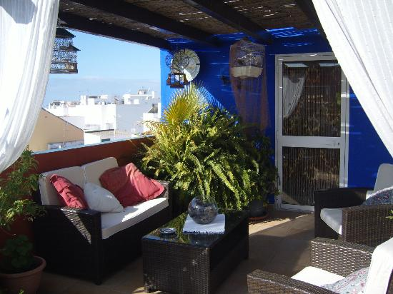 Hostal Plaza Cantarero: roof terrace