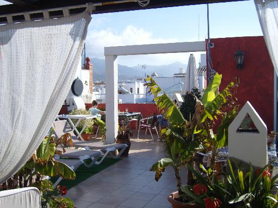 Hostal Plaza Cantarero: terrace