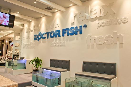 Private massage room picture of athens doctor fish for Fish pedicure nyc
