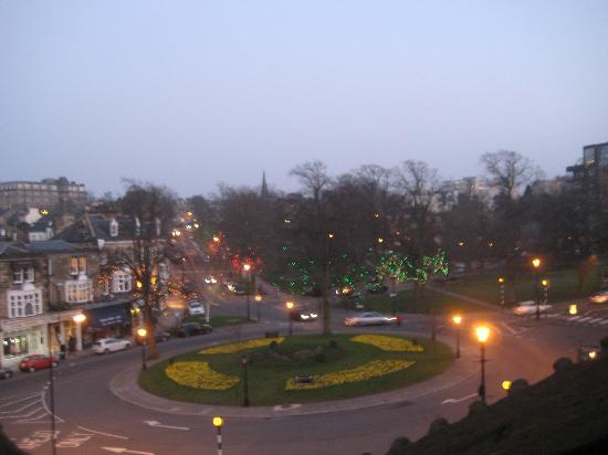 The Crown Hotel: View from room 228 at night