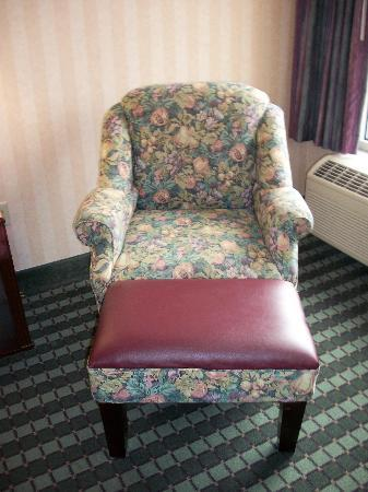 Comfort Inn Roanoke Airport: Chair and ottoman - great for reading