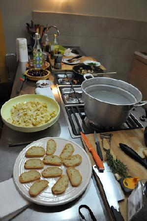 Cooking in Toscana