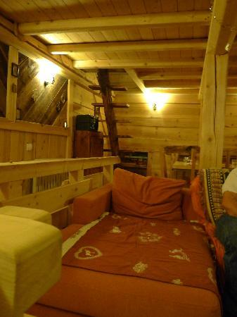 The Chalet Colettine: seating and those scary steps to mezzanine