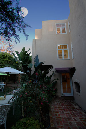 The Bed and Breakfast Inn at La Jolla: Our Private Garden at Dusk