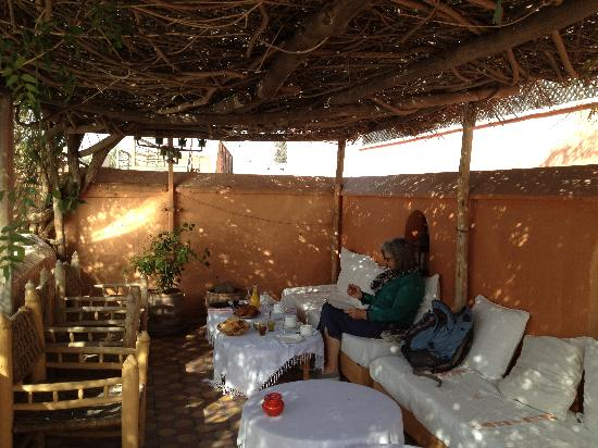 Dar Touyir: After breakfast on the roof terrace