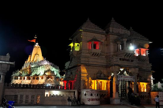 Somnath, India: Temple in Night