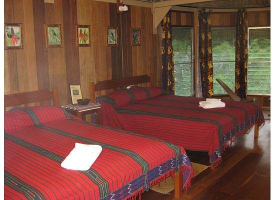 Pook&#39;s Hill Lodge: Bedroom area of the birdwalk cabanas