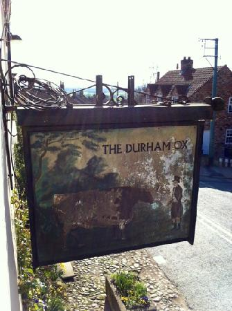 The Durham Ox: hanging sign