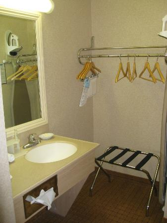 Holiday Inn Express Hotel & Suites Pasadena-Colorado Blvd.: small sink and small closet