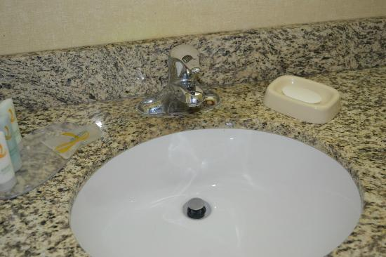Econo Lodge Inn & Suites: soap left from previous occupant