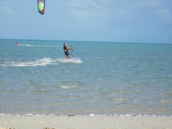 Villa Wyakha: Kite-surfing  on the beach,