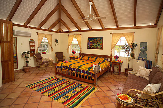 Jaguar Reef Lodge and Spa: Cabana interior