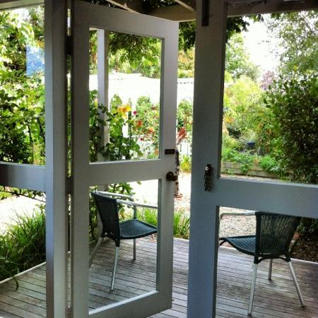 Anglesea House Bed & Breakfast: our private deck off the bedroom area