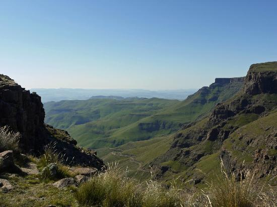 Sani Pass, Lesotho: The view from Sani Top Lodge's deck