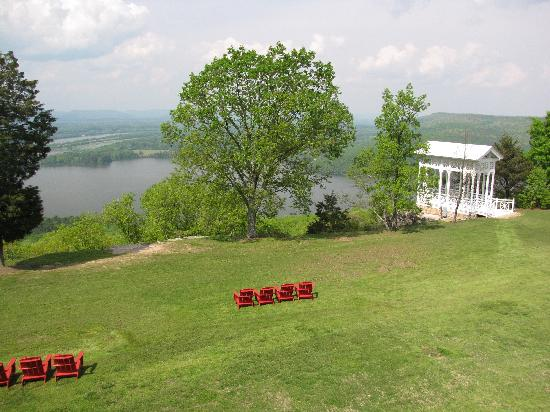 Lodge on Gorham&#39;s Bluff: view from our room