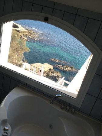 Hotel Punta Rossa: view from jacuzzi in suite 221