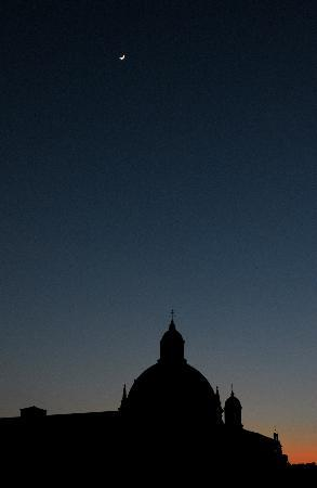 Ca' Fosca due Torri: with the Moon, Venus, and Jupiter at night