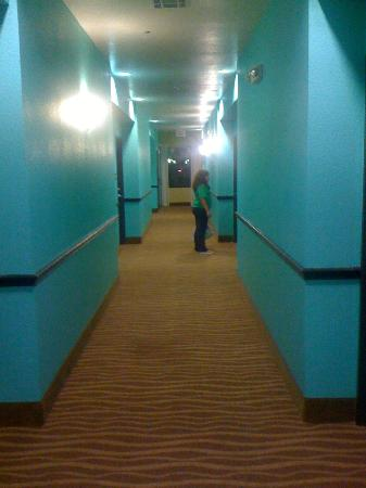 Super 8: Hallway leading to our room