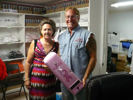 Rick's Restorations : My wonderful wife and Rick Dale with restored