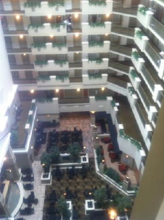 view of atrium from 9th floor picture of embassy suites. Black Bedroom Furniture Sets. Home Design Ideas