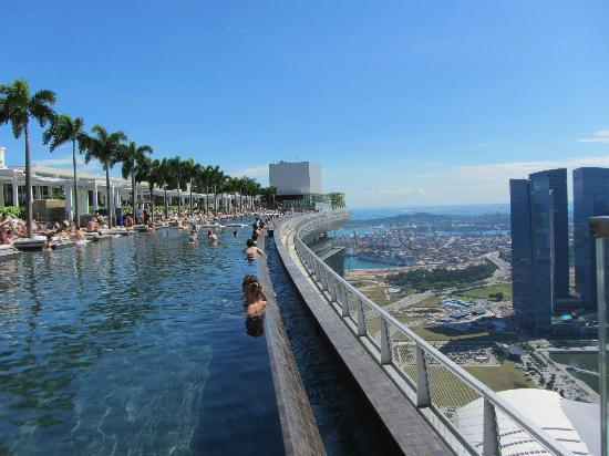 Marina bay sands infinity pool singapore - Infinity Pool Picture Of Marina Bay Sands Singapore