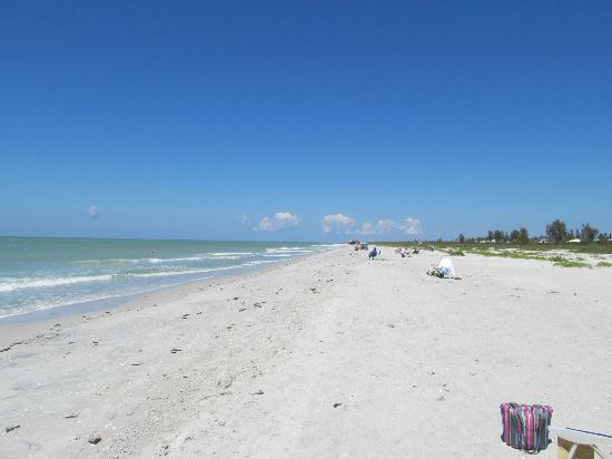 Periwinkle Cottages of Sanibel: A beautiful beach. It was crowded this day.