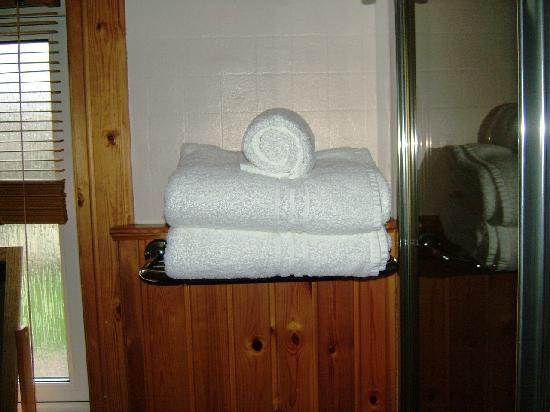 Fernlea Guest House: Fluffy white bath sheets