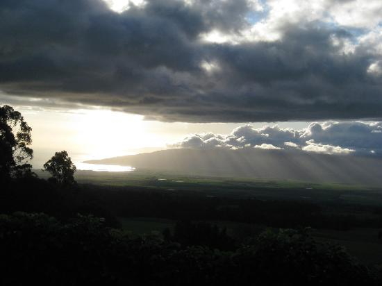 Aromatherapy Foundation of Maui: Feels like your right at cloud level! View from bedroom in Romantic Cottage