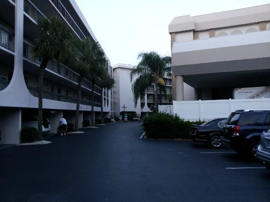Anglers Cove Condominiums: Parking area outside Building H & J