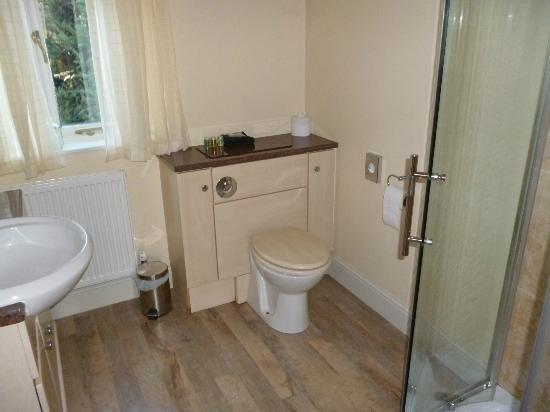 Cranbourne House: Bathroom (shower to the right, basin to the left)