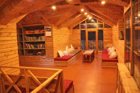 The Grand Shamba-La: Library with cozy space for reading  or  meditation