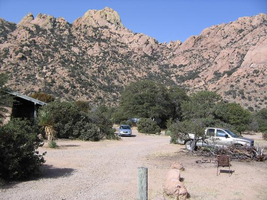 Cochise Stronghold, A Nature Retreat: My favorite view from cookshack porch