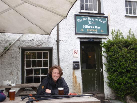 The Old Dungeon Ghyll Hotel: The beer garden