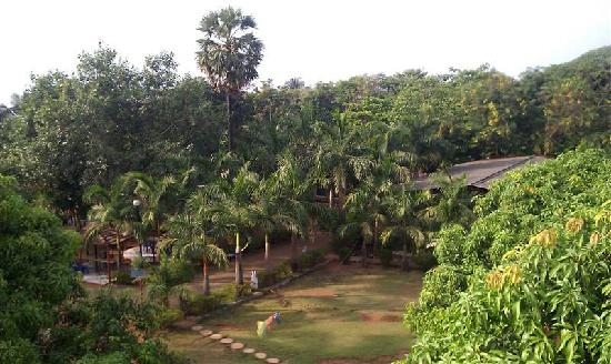Pali Beach Resort: Center of resort garden