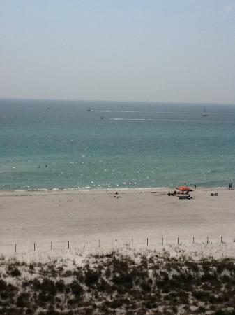 Moonspinner Condominium : View from building C straight to the beach 