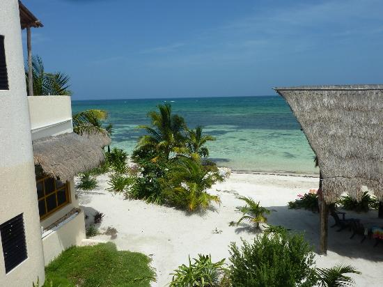 Balamku Inn on the Beach: The view from our room ! How magnificentAll rooms have ocean view !!!