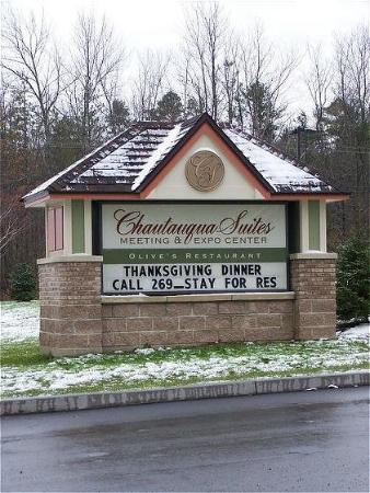 Chautauqua Suites, Meeting & Expo Center: Exterior View - Sign