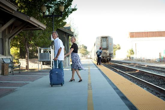 Amtrak stops in downtown Paso, bringing travelers from far and wide to Paso Robles Wine Country