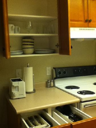 HYATT house Boston/Waltham: great kitchen for a hotel! all you need is here.