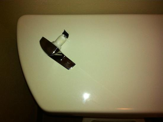 DoubleTree by Hilton Hotel West Palm Beach Airport: Broken handle on toilet