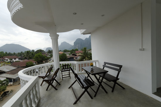Laos Haven Hotel &amp; Spa: View from Balcony