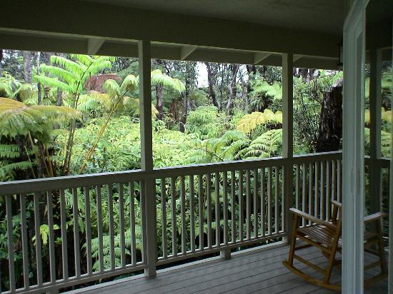 Volcano Country Cottages: The view from the porch