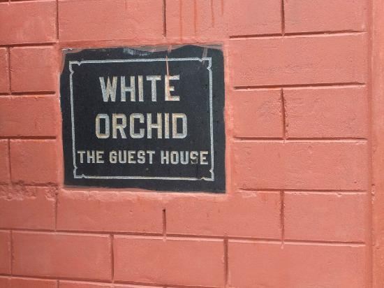 White Orchid Guesthouse.: At the gate