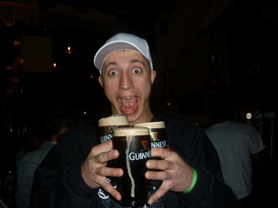 Province of Leinster, Ireland: The usual amount of Guinnes