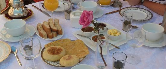 Riad Al Badia: Desayuno