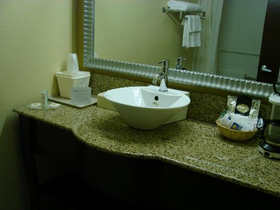 Comfort Inn University: vessel sink